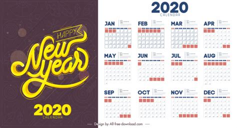 calendar template simple flat decor contrast design  vector  adobe illustrator ai