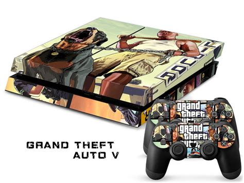 Baru Ps4 Gta V Reg 3 1pcs vinyl sticker for playstation 4 console ps4 skin 2 pcs stickers for ps4 controllers
