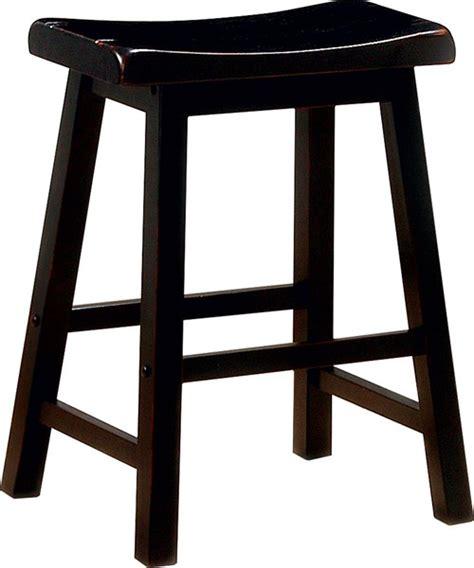 24 Inch Black Wood Bar Stools by 2 Coaster Furniture Black Wood 24 Inch Bar Stools The