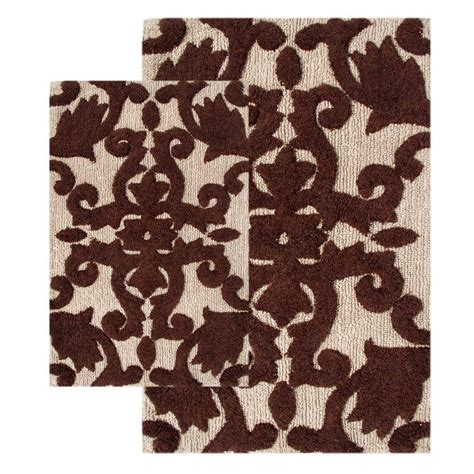 his and hers bathroom rugs jean pierre cotton his and hers linen bath rug set 2