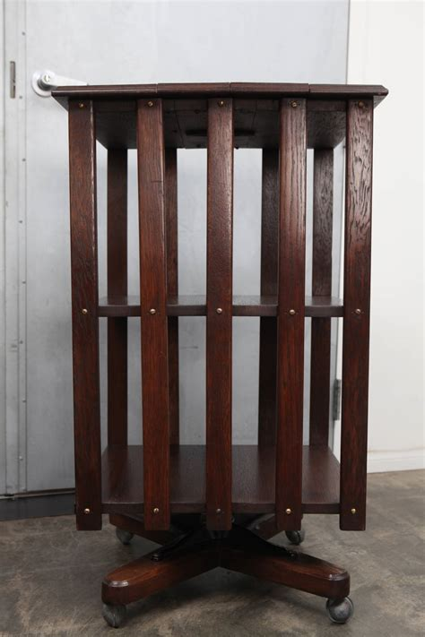 edwardian oak revolving bookcase for sale at 1stdibs