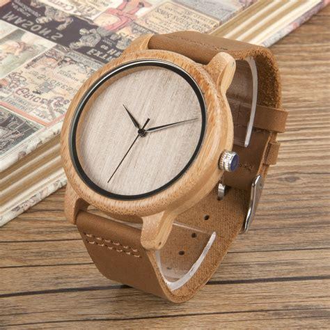 Jam Tangan Kayu Led Unik Bobo Bird bobo bird jam tangan kayu analog pria a19 brown