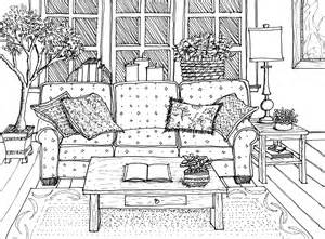 Interior Drawing perspective drawing drawing hand