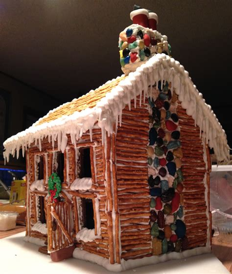 gingerbread log cabin template cakes and cookies nome pioneer