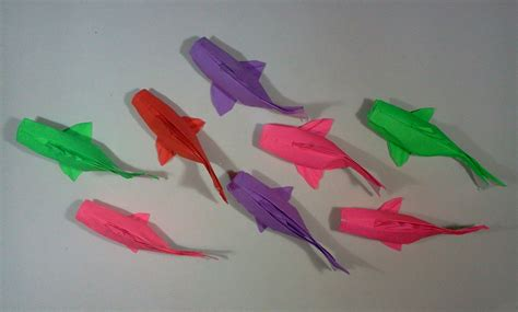Make Paper Fish - how to make origami fish koi sipho mabona