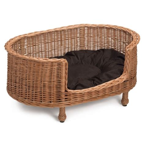wicker dog bed prestige wicker luxury oval dog bed basket settee large
