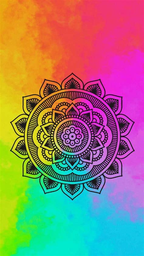 colorful mandala colorful mandala mandalas fondos de