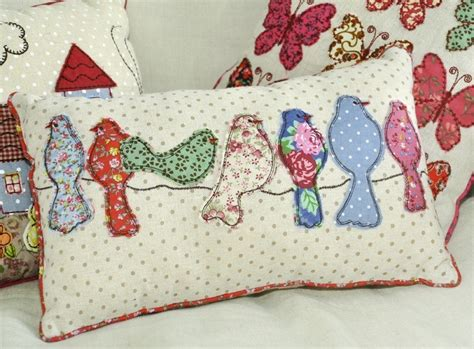The Patchwork - patchwork song birds cushion dotcomgiftshop