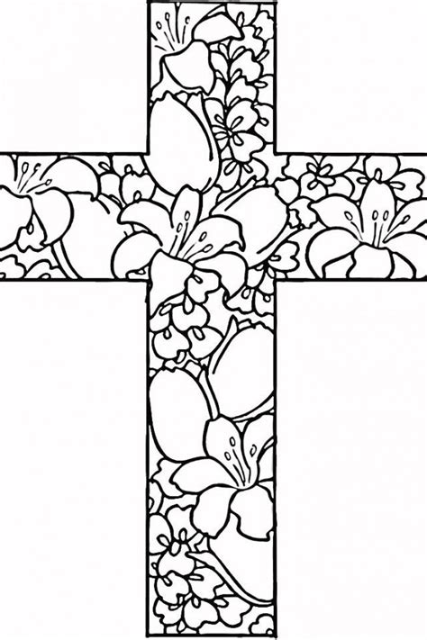 free printable coloring pages of crosses cross coloring pages kids az coloring pages