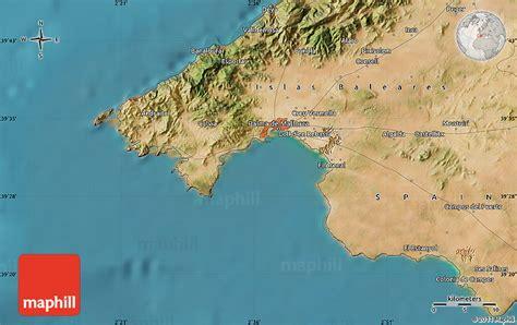 satellite map  palma de mallorca