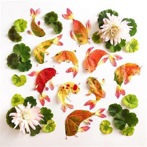 buat tulisan indah online dari bunga dan daun wanita ini buat lukisan indah