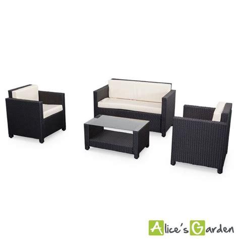 salon de jardin garden salon de jardin s garden en r 233 sine tress 233 e 4 places noir perugia fauteuil canap 233 la