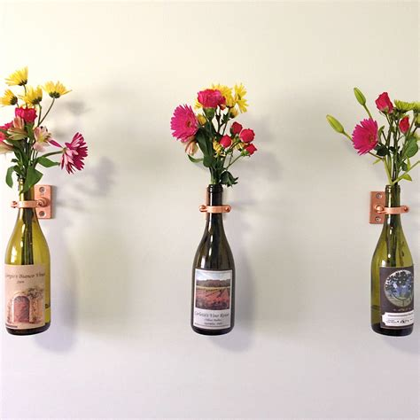 Wine Vase by Hardware Only 6 Wine Bottle Wall Flower Vase Kits Silver