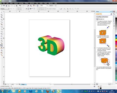 tutorial corel draw efek teks membuat efek teks 3d dengan corel draw x5