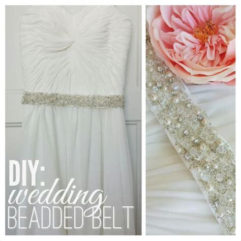 diy beaded belt tutorial wedding dress belt bliss n