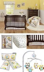 Neutral Baby Bedding With Owls Yellow Gray Owl Neutral Baby Boy Nursery 8pc Crib