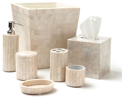 bathroom ensemble sets roselli trading mother of pearl bath accessories