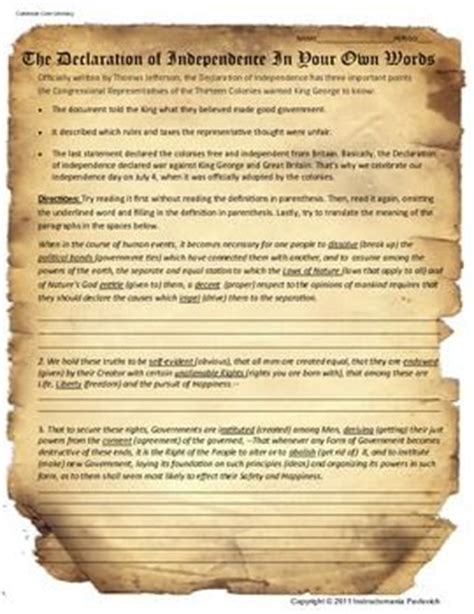 Common Declaration Letter 76 Best School Declaration Of Independence Images On Declaration Of Independence