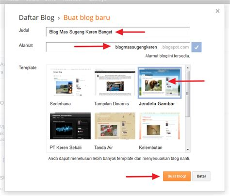 cara membuat blog gratis marketing cara membuat blog gratis dengan blogger x mia 1 smager