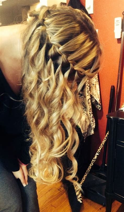 wanded hairstyles wanded and braided waterfall braid hair styles pinterest
