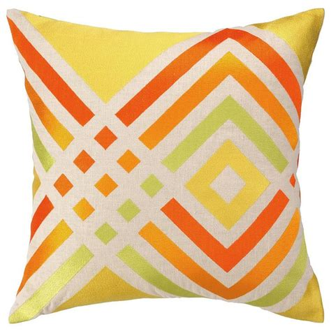 Door Pillow by Los Olivos Yellow Embroidered Pillow I Zinc Door
