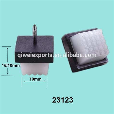 square plastic chair glides commercial 13 16 quot square chair