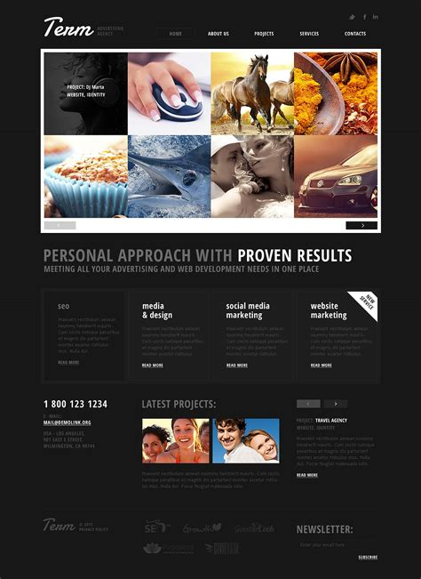 free download website templates for advertising advertising agency responsive website template web
