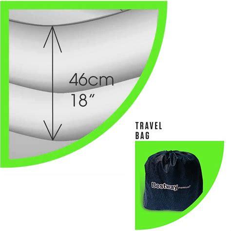 materasso gonfiabile singolo materasso gonfiabile singolo nero 191x97x46 con pompa