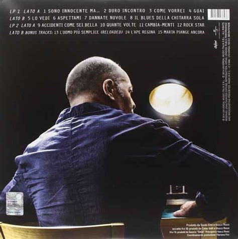 canzoni sono innocente vasco vasco quot sono innocente quot tracklist album 2014 nuove