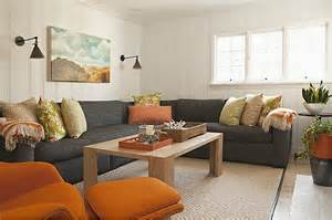 Grey Blue Orange Living Room by Living Room Modern Decor Orange And Grey Just Decorate