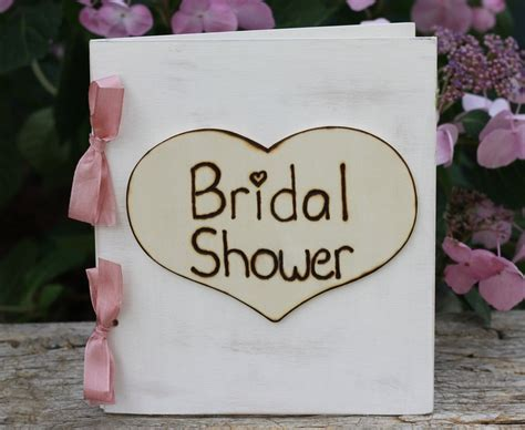 rustic bridal shower guest book always his