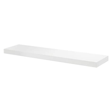White Floating Shelf Kit 1150x300x50mm Mastershelf White Shelves