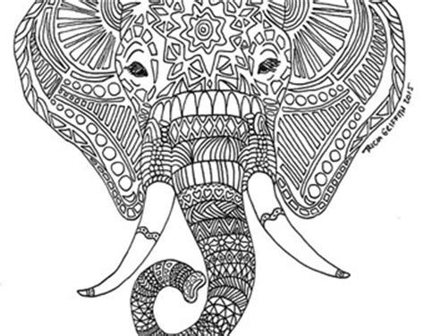 coloring pages abstract elephant abstract elephant coloring pages
