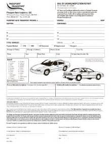 Auto Transport Invoice Template by Auto Bill Lading Fill Printable Fillable Blank