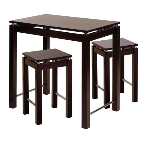 kitchen amazon amazon com winsome linea pub kitchen set island table