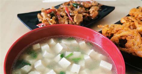 resep miso tahu enak  sederhana cookpad