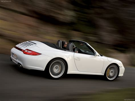 white porsche convertible 2009 white porsche 911 carrera 4 cabriolet wallpapers