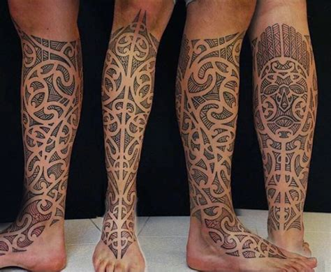 half leg sleeve tattoo 100 maori designs for new zealand tribal ink ideas