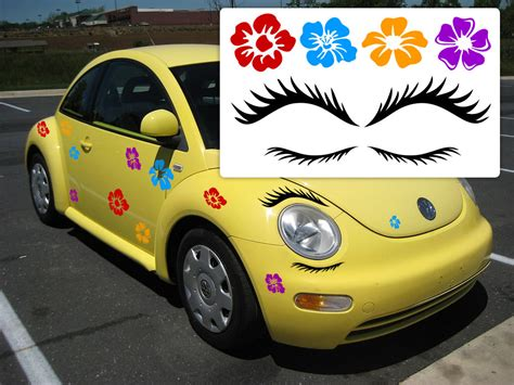 volkswagen eyelash vw beetle eyelashes eyelashes for beetle punch buggy
