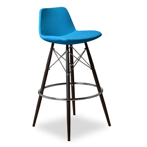 Coolest Beds contemporary turquoise bar stool with back metal decofurnish
