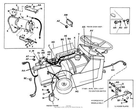 starter generator wiring diagram  simplicity landlord