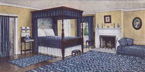 colonial style bedroom  interior  shown