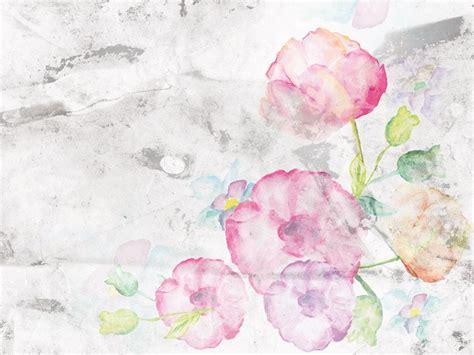 fiori acquarello acquerello fiori carta da parati nature
