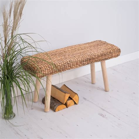 natural wood benches natural wood wicker hallway bench by za za homes