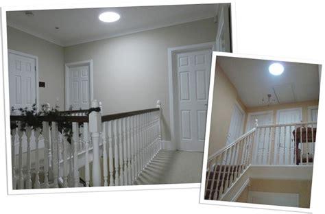 Design Homes by Landing Lighting Brighten Gallaried Landing Sun Pipe