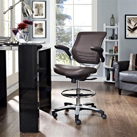 Modway Edge Drafting Stool by Modway Edge Drafting Stool In Brown Eei 211 Brn The Home