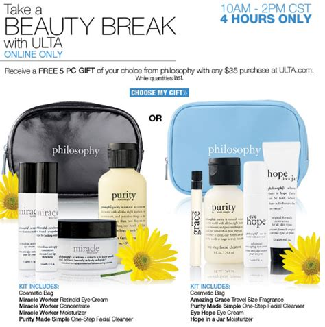 ulta beauty holiday hours ulta com free 5 piece philosophy gift set 40 value