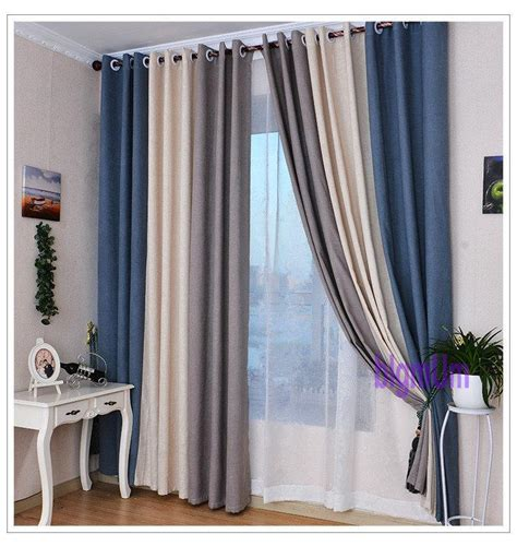 2018 summer style linen curtains for living room blackout