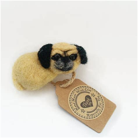 pug brooch best felted wool dogs products on wanelo
