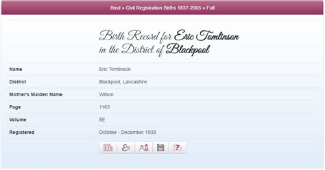 Liverpool Birth Records Ricky Tomlinson Who Do You Think You Are Quot Maybe This Is Why I The Politics